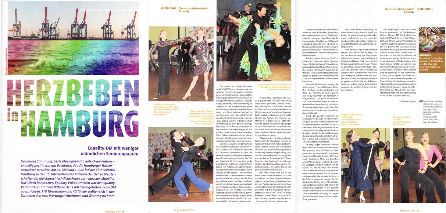 Herzbeben in Hamburg - Tanzspiegel-Bericht über die DM 2019
